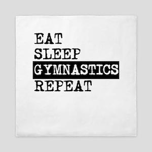 Eat Sleep Gymnastics Repeat Queen Duvet