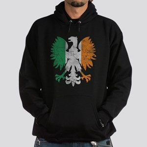 Irish Flag Polish Eagle Hoodie
