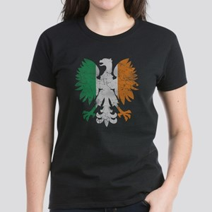 Irish Flag Polish Eagle T-Shirt