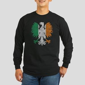 Irish Flag Polish Eagle Long Sleeve T-Shirt