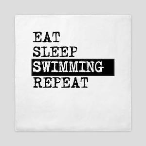 Eat Sleep Swimming Repeat Queen Duvet