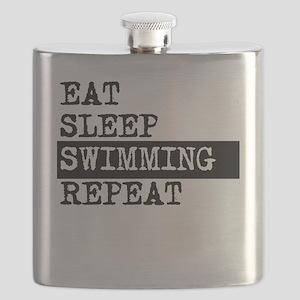 Eat Sleep Swimming Repeat Flask