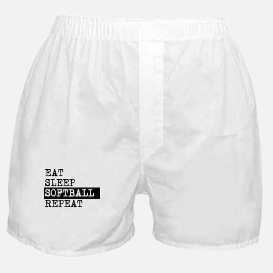 Eat Sleep Softball Repeat Boxer Shorts