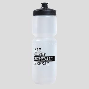 Eat Sleep Softball Repeat Sports Bottle