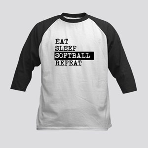Eat Sleep Softball Repeat Baseball Jersey