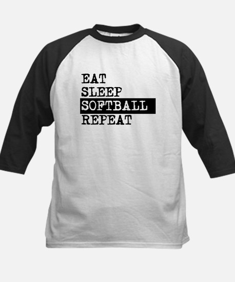 Eat Sleep Softball Repeat Baseball Jersey