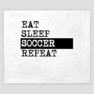 Eat Sleep Soccer Repeat King Duvet