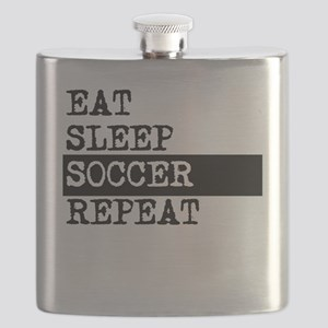 Eat Sleep Soccer Repeat Flask