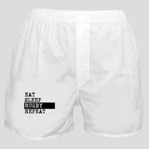 Eat Sleep Rugby Repeat Boxer Shorts
