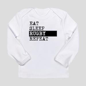 Eat Sleep Rugby Repeat Long Sleeve T-Shirt
