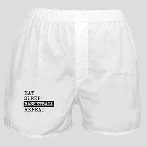 Eat Sleep Basketball Repeat Boxer Shorts