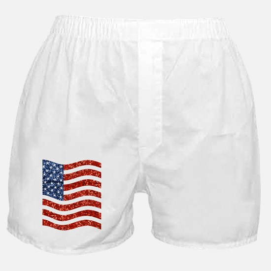 sequin american flag Boxer Shorts