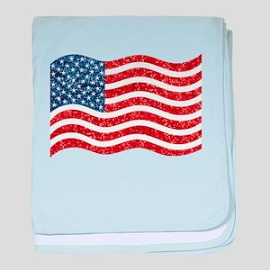 sequin american flag baby blanket