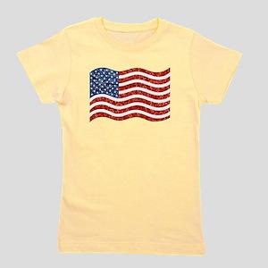 sequin american flag Girl's Tee