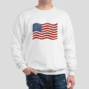 sequin american flag Sweatshirt