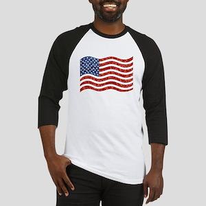 sequin american flag Baseball Jersey