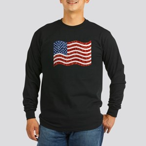 sequin american flag Long Sleeve T-Shirt