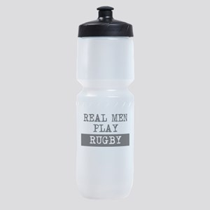 Real Men Play Rugby Sports Bottle