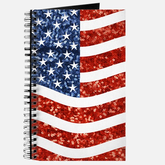 sequin american flag Journal