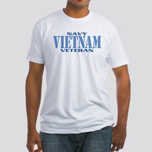 VIETNAM WAR NAVY VETERAN Fitted T-Shirt