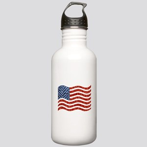 sequin american flag Stainless Water Bottle 1.0L