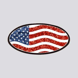 sequin american flag Patch