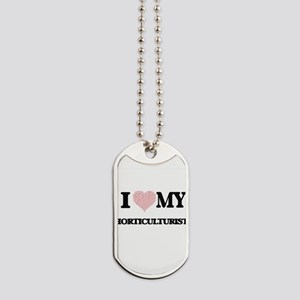 I love my Horticulturist (Heart Made from Dog Tags