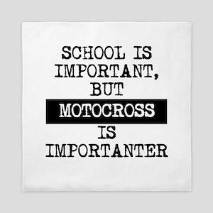 Motocross Is Importanter Queen Duvet