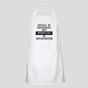 Wrestling Is Importanter Apron