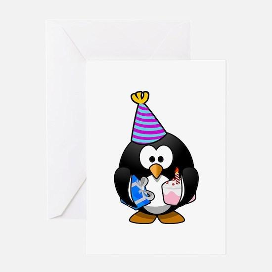 Happy Birthday Penguin Greeting Cards