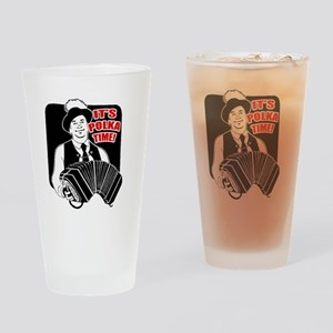 Polka Time Drinking Glass