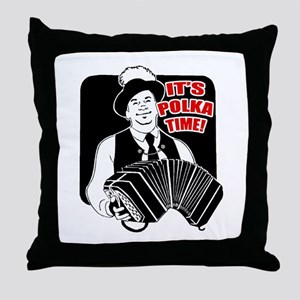 Polka Time Throw Pillow