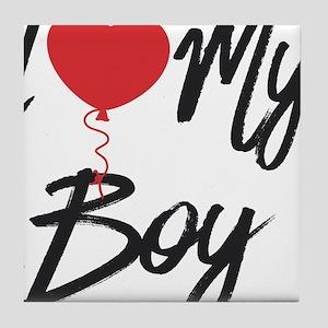 I love my boy Tile Coaster