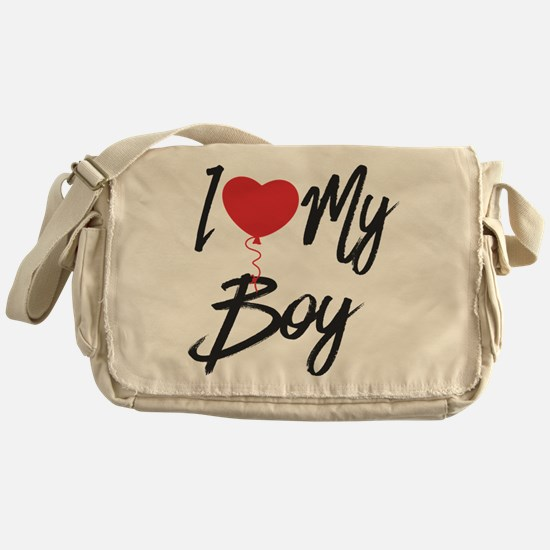 I love my boy Messenger Bag