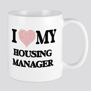 I love my Housing Manager (Heart Made from Wo Mugs