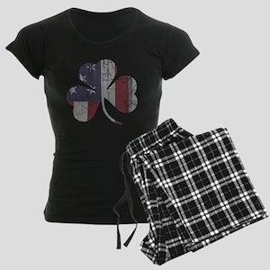 Vintage Irish American Flag Shamrock Pajamas