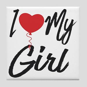 I love my Girl Tile Coaster