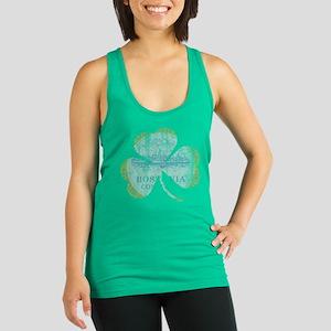 Irish Boston Flag Shamrock Racerback Tank Top
