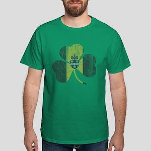 Irish Pittsburgh Flag Shamrock T-Shirt