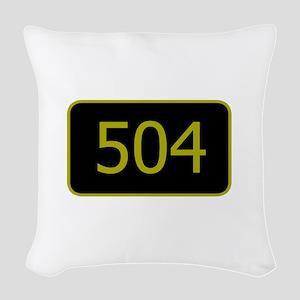 504 Woven Throw Pillow