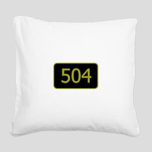 504 Square Canvas Pillow