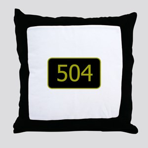 504 Throw Pillow