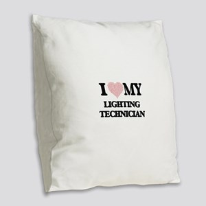I love my Lighting Technician Burlap Throw Pillow
