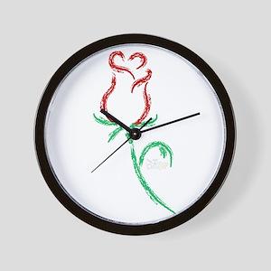 Budding Love Wall Clock
