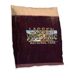 ABH Lassen Volcanic Burlap Throw Pillow