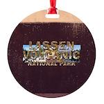ABH Lassen Volcanic Round Ornament