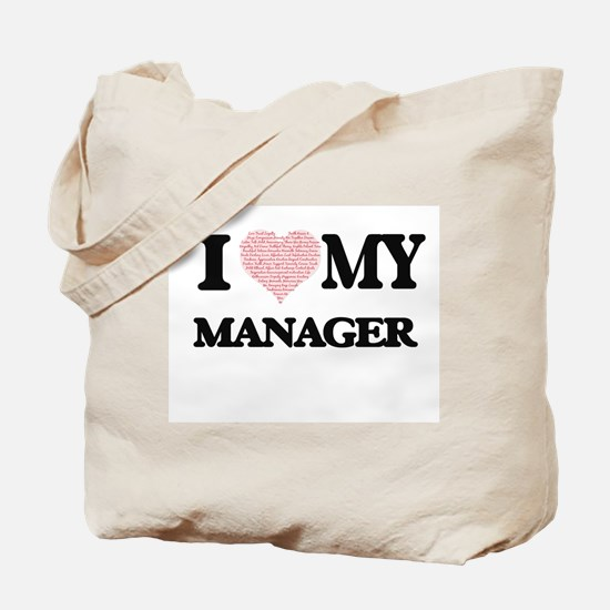 I love my Manager (Heart Made from Words) Tote Bag