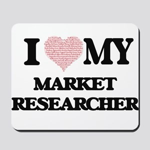 I love my Market Researcher (Heart Made Mousepad