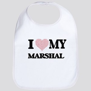 I love my Marshal (Heart Made from Words) Bib