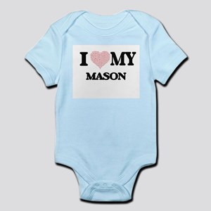 I love my Mason (Heart Made from Words) Body Suit